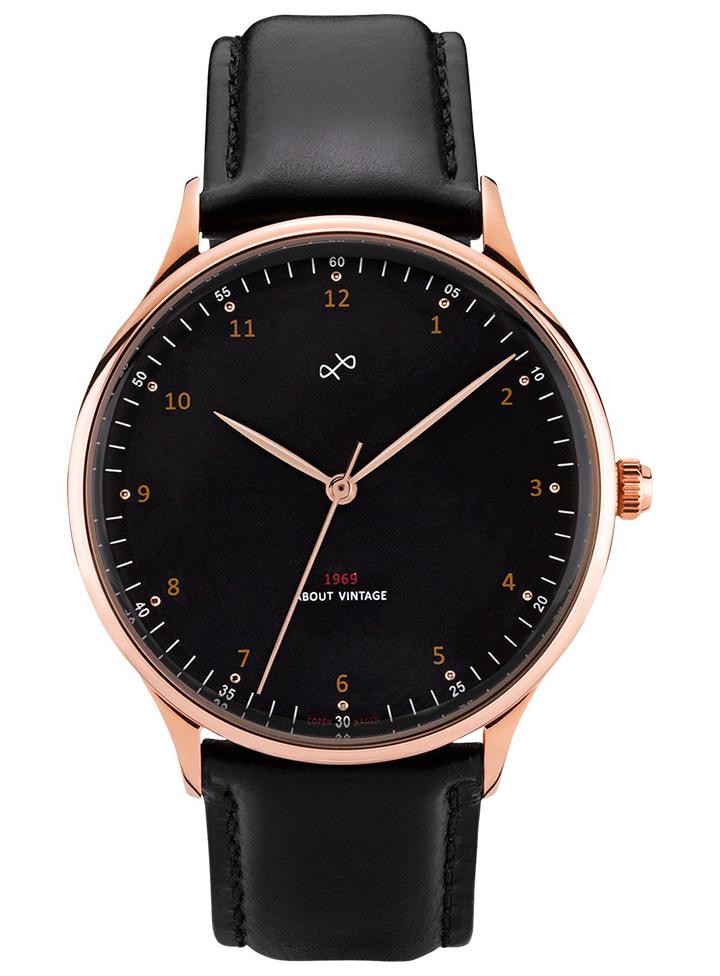 ABOUT VINTAGE 1969 Rose black dial 39mm