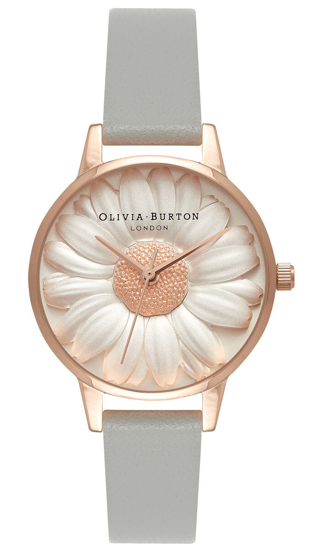 OLIVIA BURTON 3D Daisy Grey & Rose Gold OB15EG50