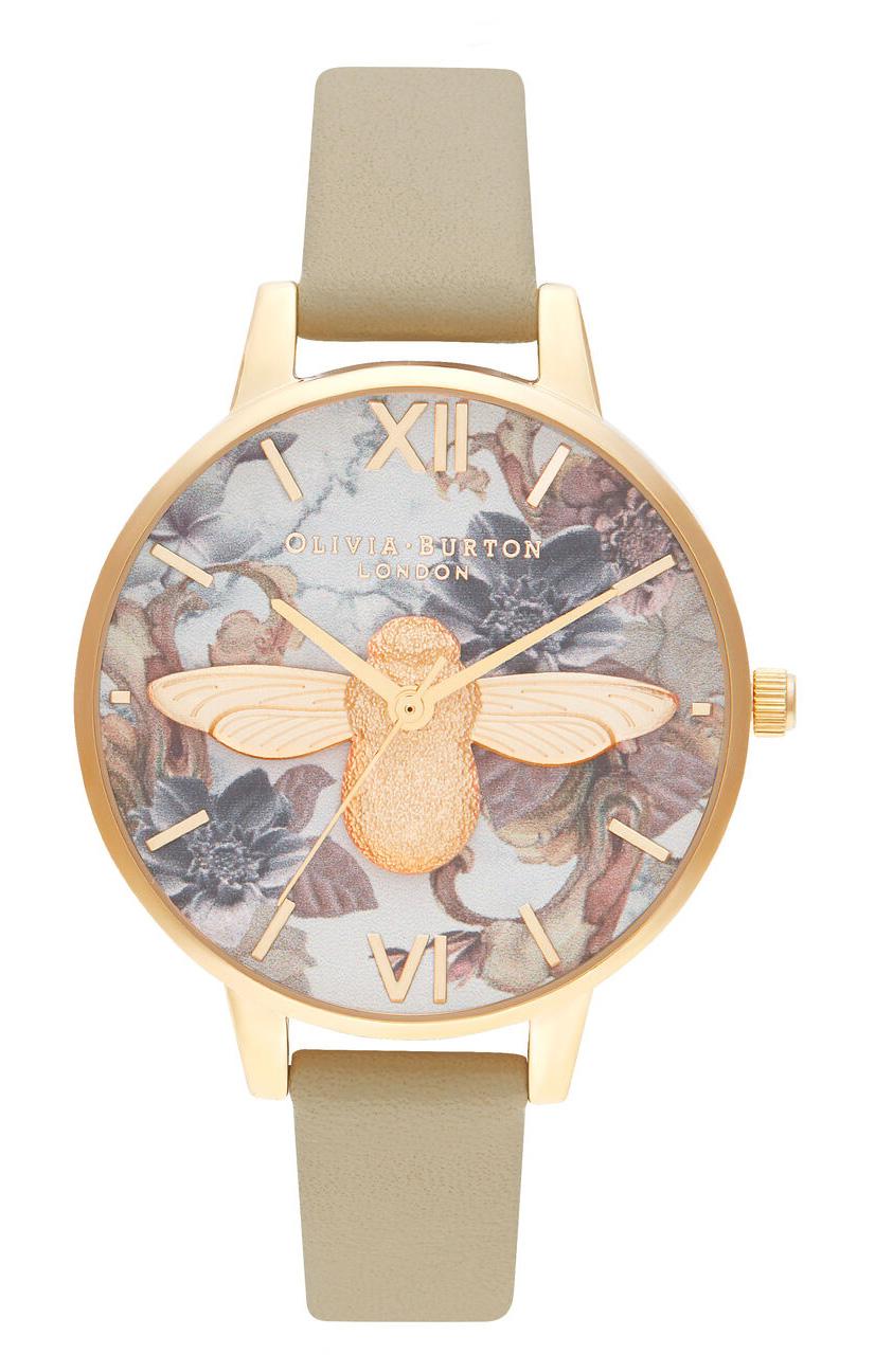 OLIVIA BURTON Demi 3D Bee Sand & Gold OB16CS22