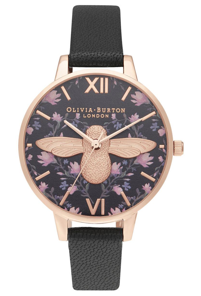 OLIVIA BURTON Demi Meant to Bee Black & Rose Gold OB16AM165