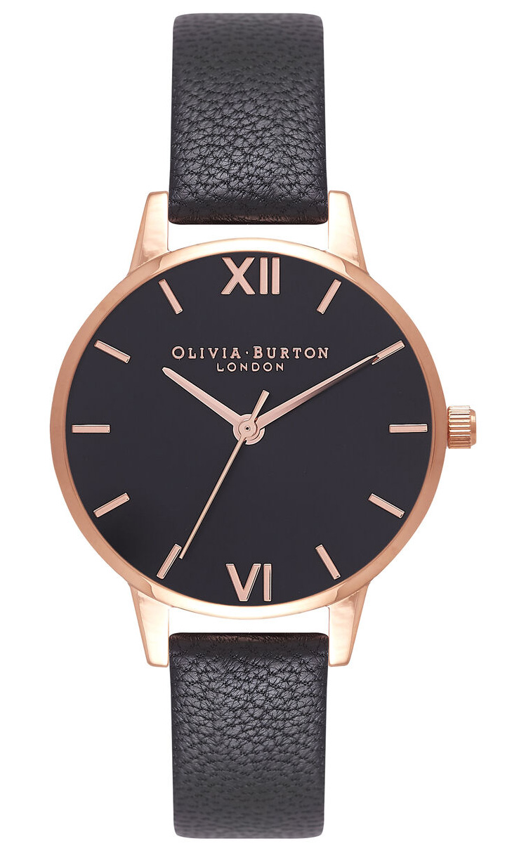 OLIVIA BURTON Midi Dial Black And Rose Gold OB16MD83