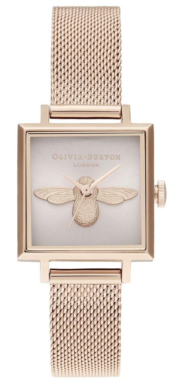 OLIVIA BURTON Square Dial Blush Sunray & Pale Rose Gold OB16AM164