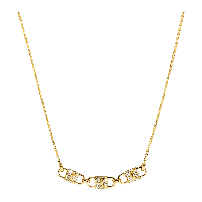 MICHAEL KORS Premium Necklace i Goldtonat stål